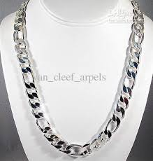 cheap silver chain necklace images Online cheap sell well 925 silver fashion men 39 s chain necklace jpg
