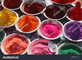 holi india colored colorful powder kumkum stock photo 98232233
