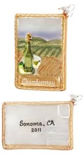 buy white wine postcard personalized wine ornaments