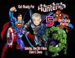 Personalized Invitation Card For Birthday Free Superhero Birthday Invitations Templates