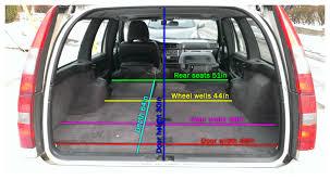 volvo v70 850 v70 wagon cargo dimensions