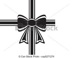 ribbon and bows vector black ribbon with bow on white eps vector search clip