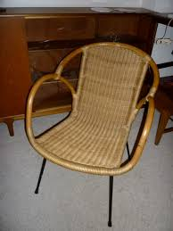 milo baughman for calif asia wicker rattan chairs