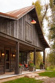Metal Siding For Pole Barns Pole Barn Ideas Exterior Rustic With Front Porch Reclaimed Wood