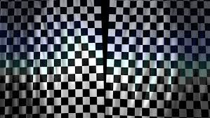 Black And White Checkered Curtains Checkered Curtains Opening Alpha Channel Included Stock Footage