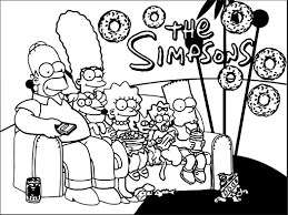 wallpapers simpsons coloring wecoloringpage