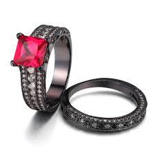 princess cut black engagement rings princess cut sapphire 925 sterling silver black