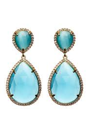 nickel earrings avah and ella mystic aqua cat s eye drop nickel earrings hautelook