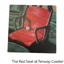 Fenway Map Assorted Boston Themed Marble Coasters Set By Screencraft