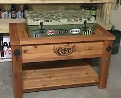 Patio Ice Bucket With Stand by Yeti Cooler Stand Rustic Woodworx