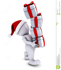 morph man with christmas gifts stock illustration image 45740508