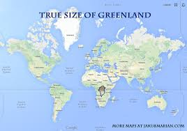 map size comparison how big are greenland and russia in comparison to africa