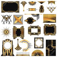 art deco vintage frames and design elements royalty free cliparts