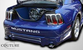 99 mustang bumper 99 04 ford mustang couture rear fender flares 104787 ebay