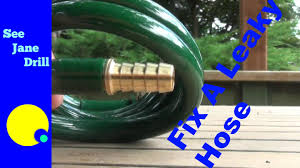 how to repair a coil garden hose on the cheap youtube
