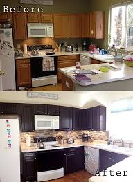 painting kitchen cabinets espresso before and after pin by harms on for the home stained kitchen cabinets