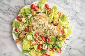 chicken caesar salad with potato croutons recipe by rachael pack