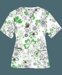 Thanksgiving Scrub Tops Ua Bundle Up Hunter Print Scrub Top Uniforms Pinterest Scrub