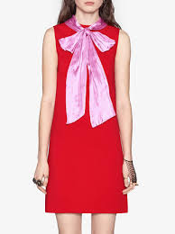 gucci stretch viscose dress with bow 1 980 buy ss17