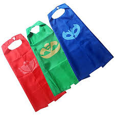 pj mask super team kids cape mask costumes 3 gekko