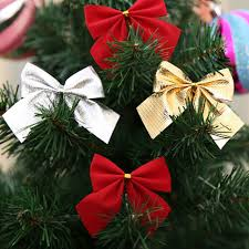 12pcs set decorating bows tree decorations