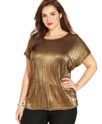metallic blouse ny collection plus size sleeve metallic blouse tops plus