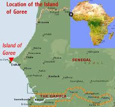 africa map senegal island of goree senegal world heritage