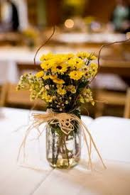 Western Style Centerpieces by Baby Hay Bales Mason Jar Centerpiece With Wildflowers 35 00 With