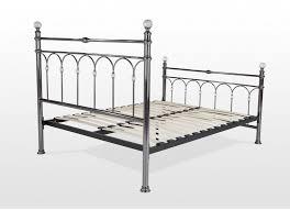 double 4 ft 6 antique metal bed frame krystal