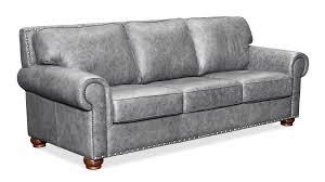 Leather Chair Grey Highlander November Sky Leather Sofa