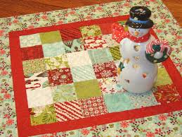 quilted square table toppers christmas quilted square table topper in moda s aspen frost square