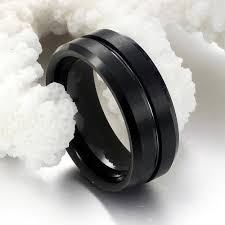 Mens Tungsten Wedding Rings by Personality Black Tungsten Wedding Rings For Man Fashion 8mm Width