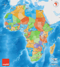 africa map color political map of africa single color outside