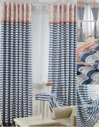 Red And White Striped Curtain Blue Striped Curtains In Nautical Style With Stars