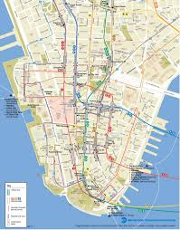 manhattan on map lower manhattan map go nyc tourism guide