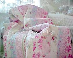 shabby cottage chic bedding twin quilts comforter rag quilt