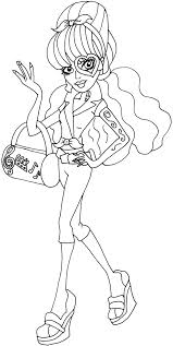 free printable monster high coloring pages operetta i love