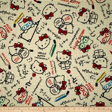 hello kitty math graph paper tan from fabricdotcom licensed from home decorating graph paper
