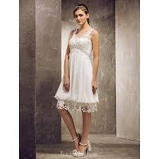 short knee length chiffon lace bridesmaid dress ivory plus sizes