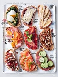 canap駸 lits cinna open sandwich varities bon appetit food