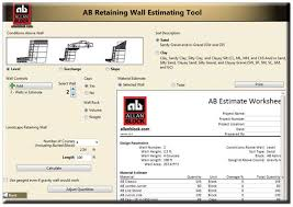 Landscape Estimating Software by Estimating Tools For Retaining Walls Courtyard Walls And Fences