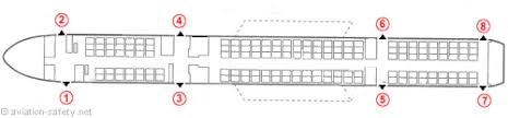 757 seat map aviation safety airline safety emergency exits