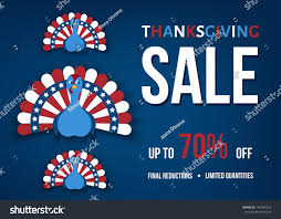 Flag Day Funny Thanksgiving Day Sale Banner Funny Turkey Stock Vector 746040523