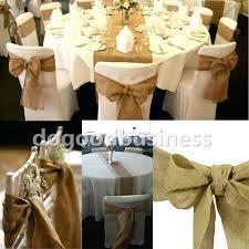 gold chair sashes burlap wedding chair sashes bazaraurorita