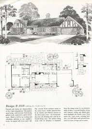 Tudor Floor Plans by Design B 2318 Vintage House Plans French Country And Tudor Styles