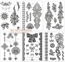 1piece indian henna stickers black tatoo