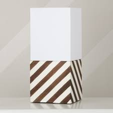 Table Lamp Shades by Modern Cube Lamp Shade U0026 Base Lamp Bases Stripes And Shops