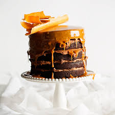 milk stout and chocolate cake with butterscotch sauce caramel