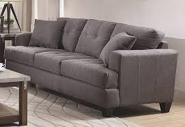 Gray Linen Sofa by Govana Casual Grey Fabric Sofa