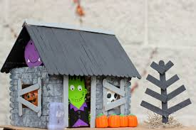 halloween roof decorations popsicle stick haunted house happily everly after